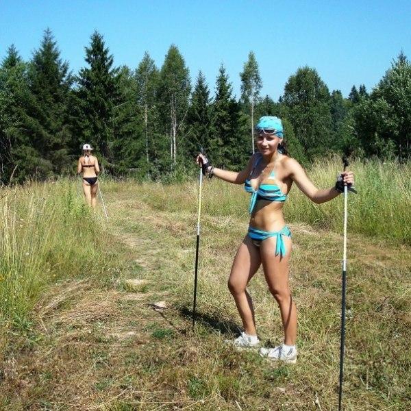 голая биатлонистка