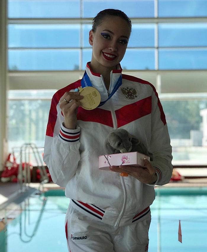Чемпионка мира по синхронному плаванию