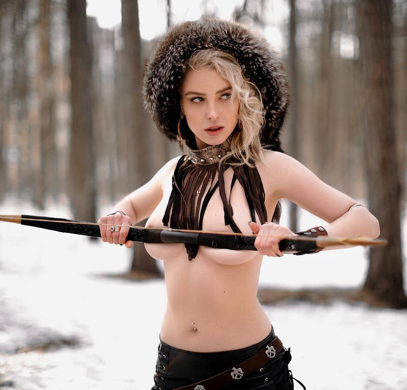 Ульяна Тригубчак с луком
